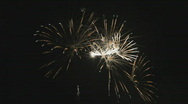 Stock Video Footage of Fireworks, elegant display
