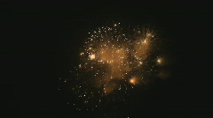 Fireworks, prolonged and colorful bursts Stock Footage
