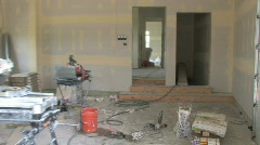 Home Construction Interior Stock Footage