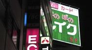 Stock Video Footage of Shot showing Tokyo Neon Lights in Tachikawa Japan at Night