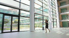 businesswoman in a hurry - stock footage