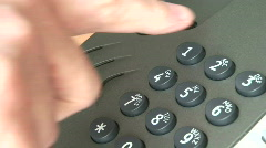 Dialling 112 Stock Footage