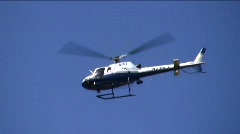 LAPD police helicopter - steadyshot Stock Footage