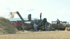 Threshing crew 032 - stock footage