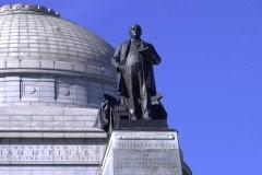 Stock Video Footage of McKinleyMonument StatueNoEfx