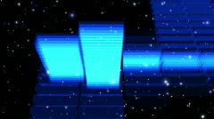 Stock Video Footage of Rotating 3D HD Spectrum Analyzer