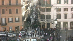 View from the Spanish Steps Stock Footage