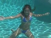 Beautiful Teen Blonde Underwater-5 Stock Footage