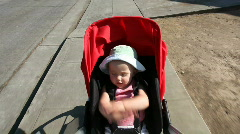 Stroller ride - stock footage