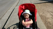 Stock Video Footage of Stroller ride