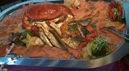 Fish Catering Stock Footage