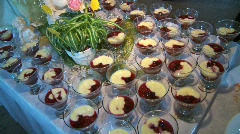 Pudding Buffet Stock Footage