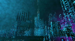 Modern City from matrix 02 Stock Footage