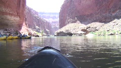 Grand canyon colorado river kayak point of view 2 Stock Footage