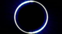 Glowing circle background loop Stock Footage