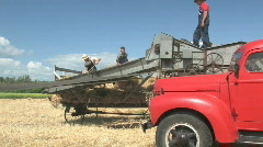 Threshing crew 021 - stock footage