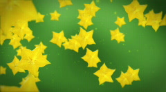 Carambola yellow star fruit Stock Footage