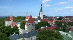 Tallinn Old Town (timelapse) Stock Footage