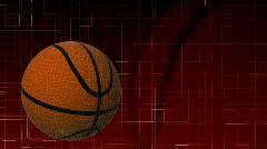 3d Basketball in HD Stock Footage