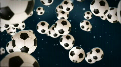 Soccer ball against dark blue Stock Footage
