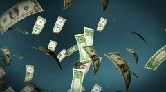 USD bill flying - stock footage