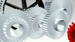 Interlocked Cogs Stock Footage