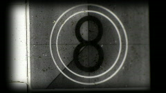 Film academy leader tv static television noise video countdown intro Stock Footage