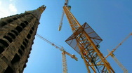 Cathedral cranes Stock Footage