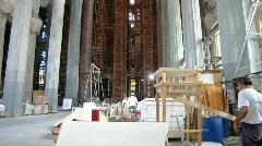 Sagrada Familia Interior Stock Footage