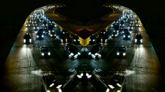 Traffic in Moscow,symmetrical montage - stock footage