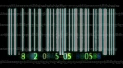 3d Barcode Animation Stock Footage