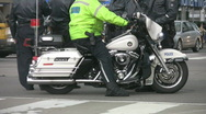Motorcycle cop. Stock Footage