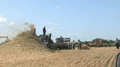 Threshing crew 034 Stock Footage