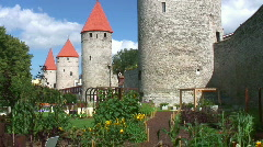 Tallinn City Wall Stock Footage