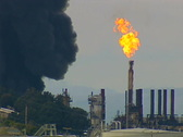 Refinery fire 05 Stock Footage