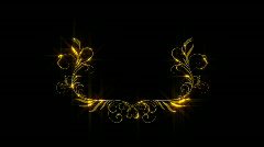 Gold frame. Stock Footage