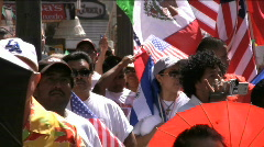 Stock Video Footage of Crowd at immigration rally