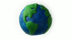 Animated Earth, loop, HD. Stop motion Stock Footage
