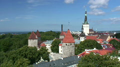 Tallinn Old Town (pan) Stock Footage