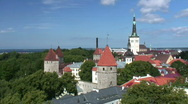 Stock Video Footage of Tallinn Old Town (pan)