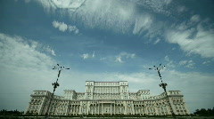 Romanian Parliament or People's House - stock footage