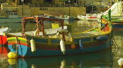 Maltese Boats Stock Footage