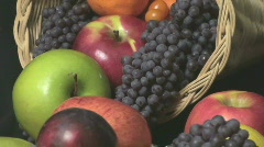 Cornucopia Arrangement Close Up Stock Footage