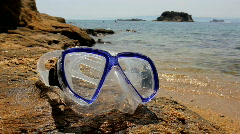 Diving mask Stock Footage