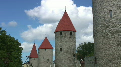 Tallinn City Wall (timelapse) Stock Footage