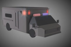 SD Ambulance simple CG - stock footage