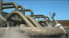 Geothermal Energy Plant  Stock Footage