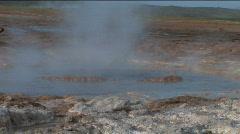 Geothermal Geyser Stock Footage