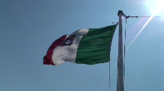 Italian Flag - stock footage