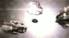 Escaping a supernova spaceships2 Stock Footage